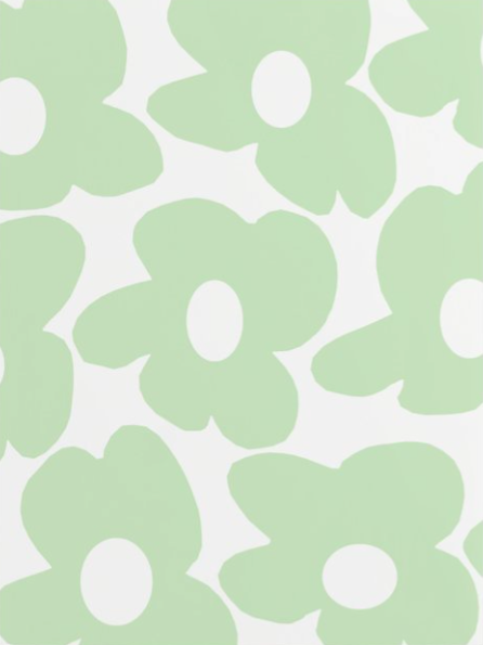 baby green flowers wall print