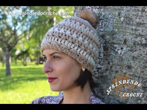 Crochet beanie hat · TOUCA GORRO ALPACA DIANE GONÇALVES - YouTube 728cf0a2eef