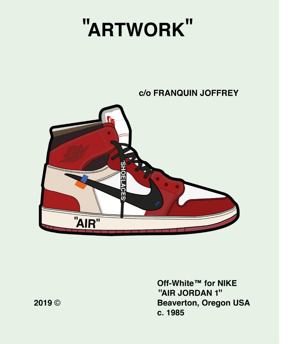 Air Jordan 1 X Off White Artwork Manufacturing Stage On Behance Air Jordans Jordans Jordan 1