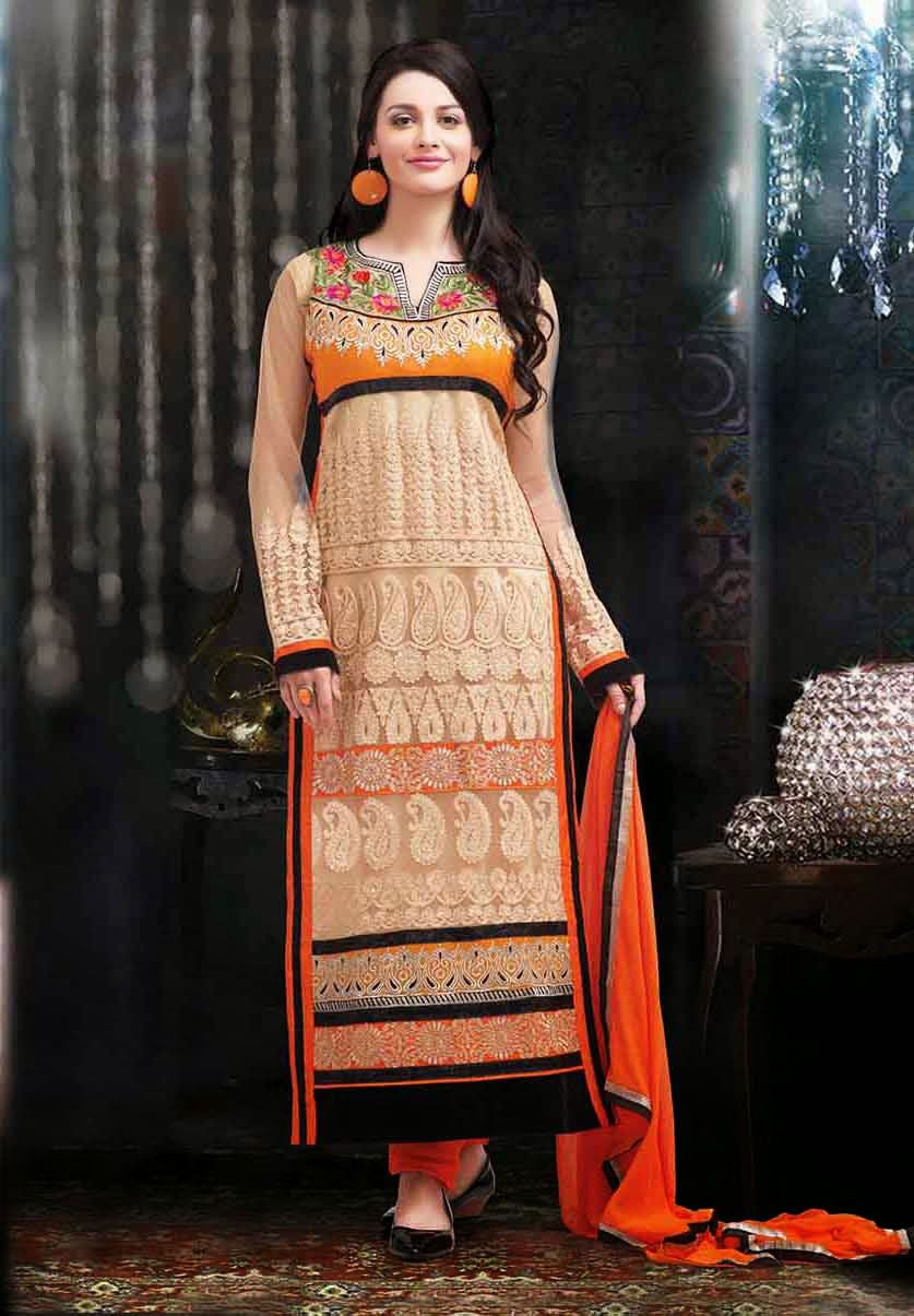 Fabric faux georgettenet designersuits price rs