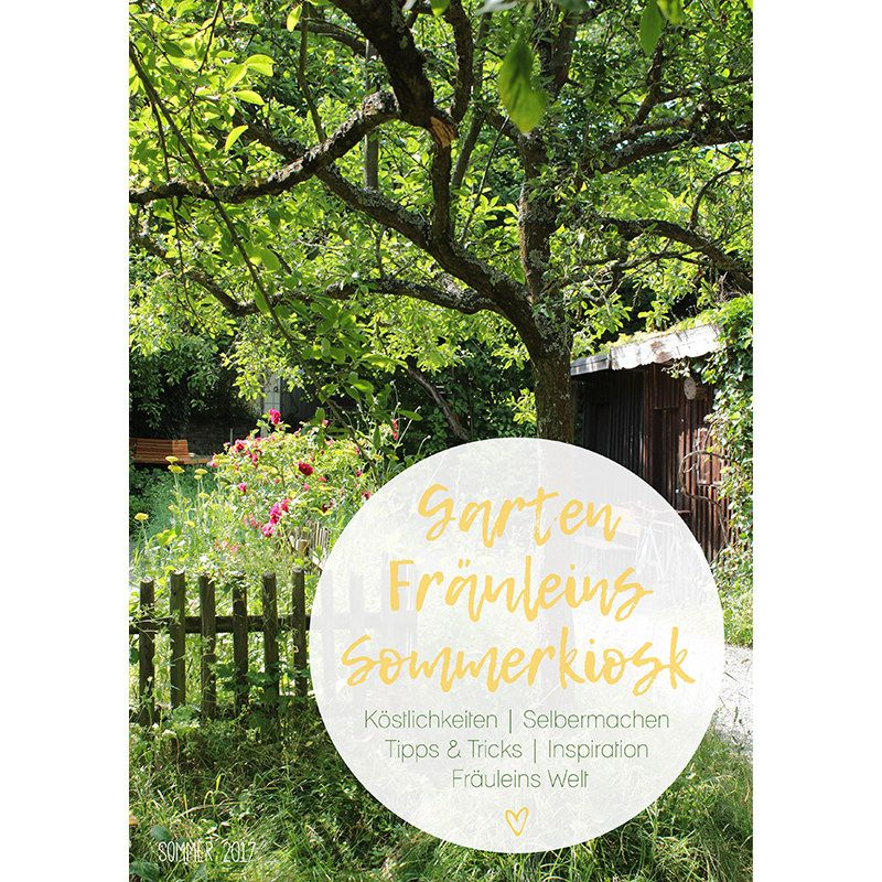Der Garten Fräulein Sommerkiosk ist da! Das E-Magazin hat einen Umfang von 100 Seiten und ist in die fünf Kategorien unterteilt. Jetzt beim Garte Fräulein im Shop herunterladen