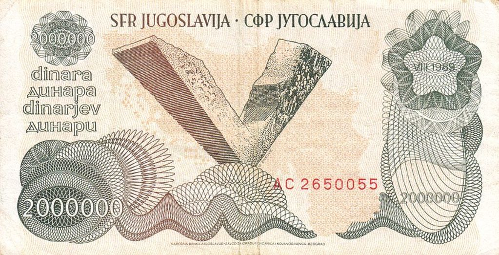Pin by tibgonpo on yugoslavia in 2020 bank notes cards