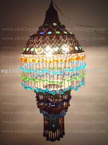CUSTOM Unique Gypsy Beaded Lamp Shade Chandelierhold Up To 4 X 60 Watt Ball Bulbs