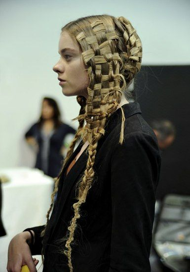 Nissybunique the hairstylist guido palau for alexander mcqueen alexander mcqueen springsummer 2011 makeup peter philips hair guido palau theres a nod to paganismand the idea of getting back to nature said pmusecretfo Gallery