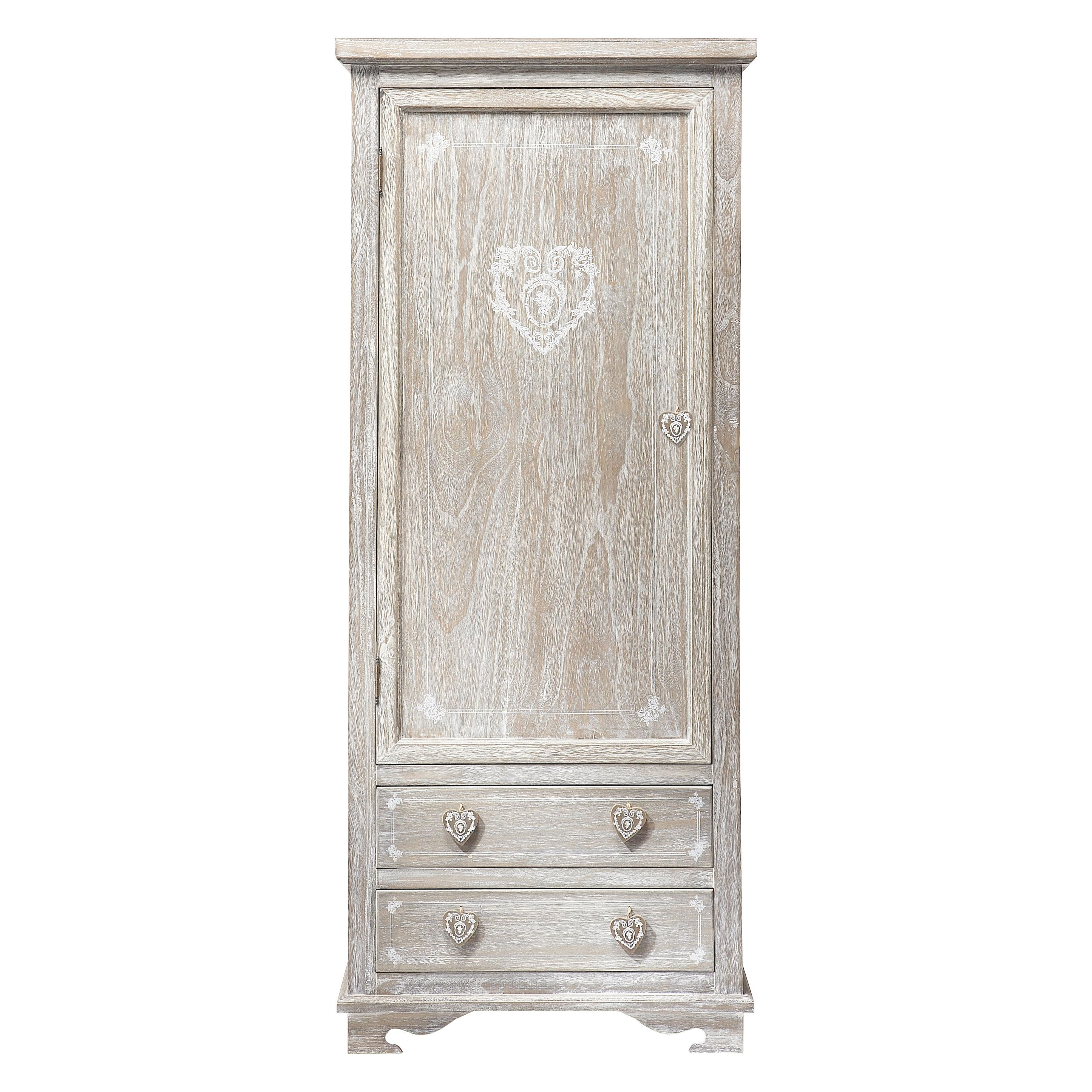 Armadi Guardaroba Maison Du Monde.Greyed Paulownia Wood Closet Single Wardrobe Kids Bedroom Furniture Furniture