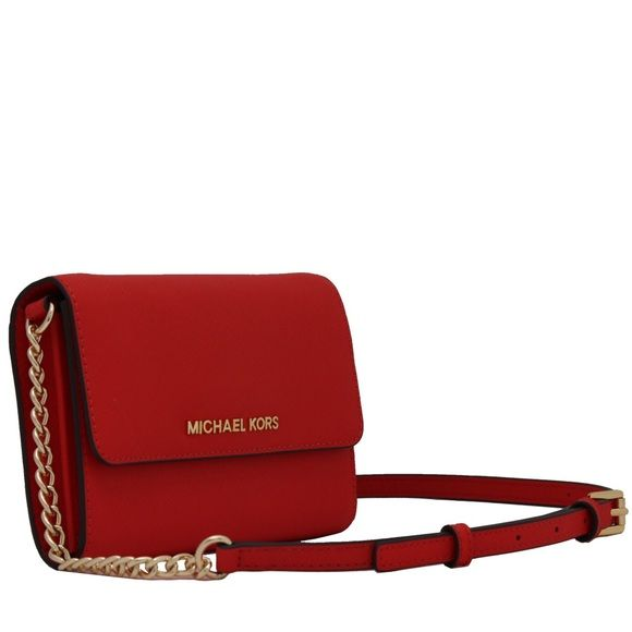 7f6a26448ded Michael Kors Crossbody Brand new 100% authentic Red Jet Set Travel ...