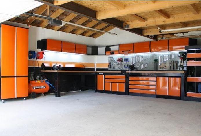 Atelier Garage Orange Garage Moderne Meuble Garage Amenagement Garage