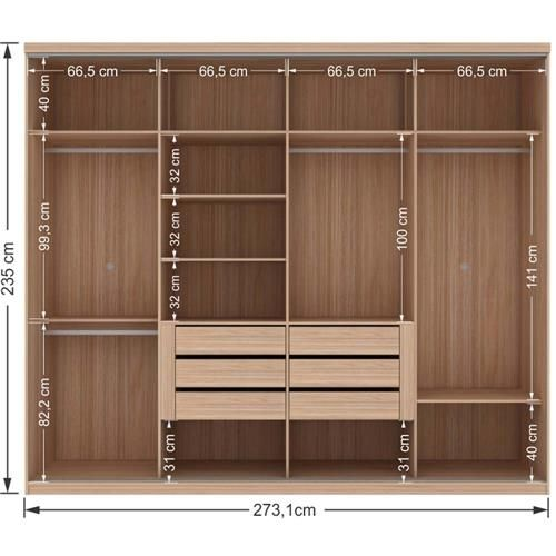 Guarda roupa santos andir esplendor com 4 portas id walk in closet vanity rooms Home interior wardrobe design
