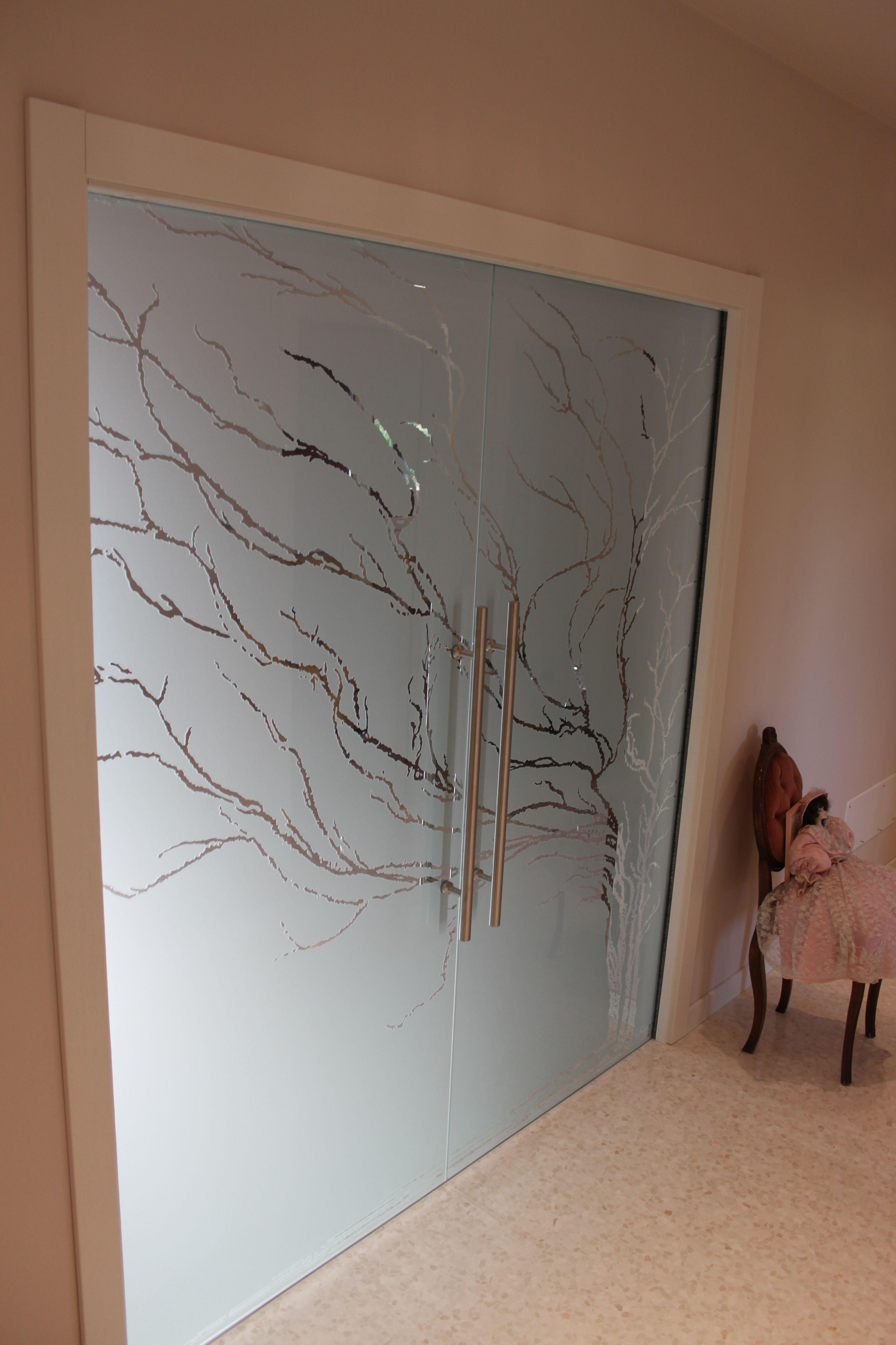 Casali porte in vetro, sabbiate e incise, modello Albero @casaliAV ...