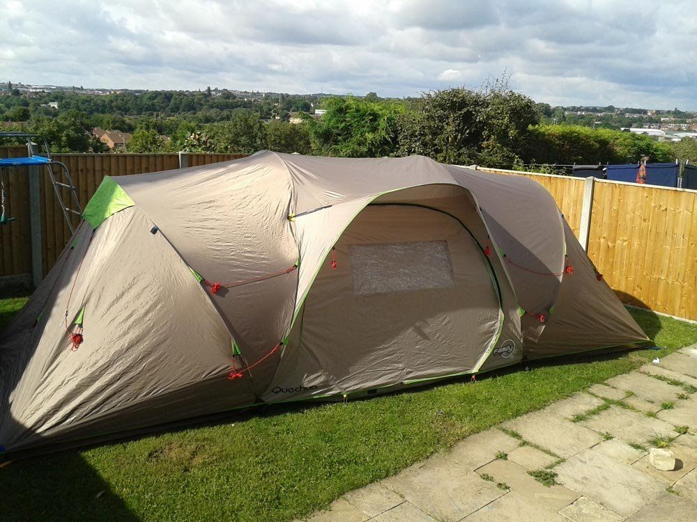 4 Man quick erect pop up style tent from Decathlon CapacityLarge 5.9sqm living area & 4 Man quick erect pop up style tent from Decathlon CapacityLarge ...