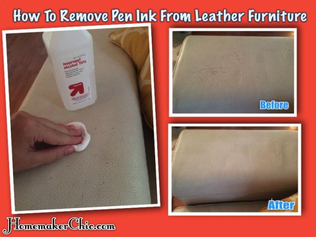 How To Remove Ink From Leather Furniture: All You Need Is Alcohol And  Cotton Pads! Easiest Solution Ever.
