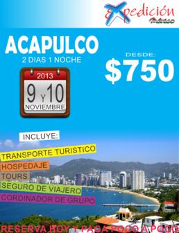 acapulco noviembre 2013 salidas de el estado de mexico