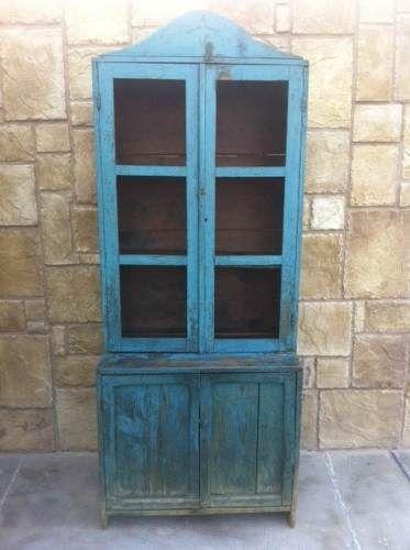 Vitrina antigua trastero antiguo mueble antiguo - Muebles para trasteros ...
