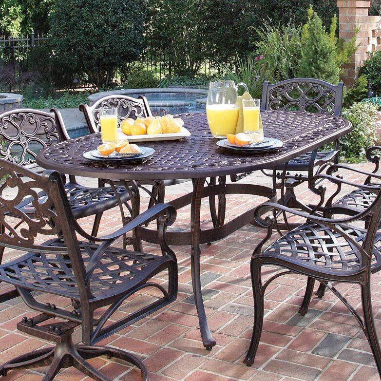 ayleen aluminum dining table gliders