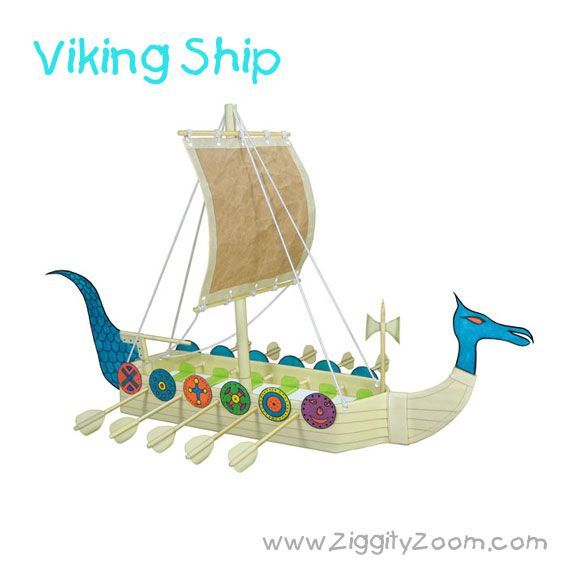 Easy DIY Viking Ship Craft From Recycled Items