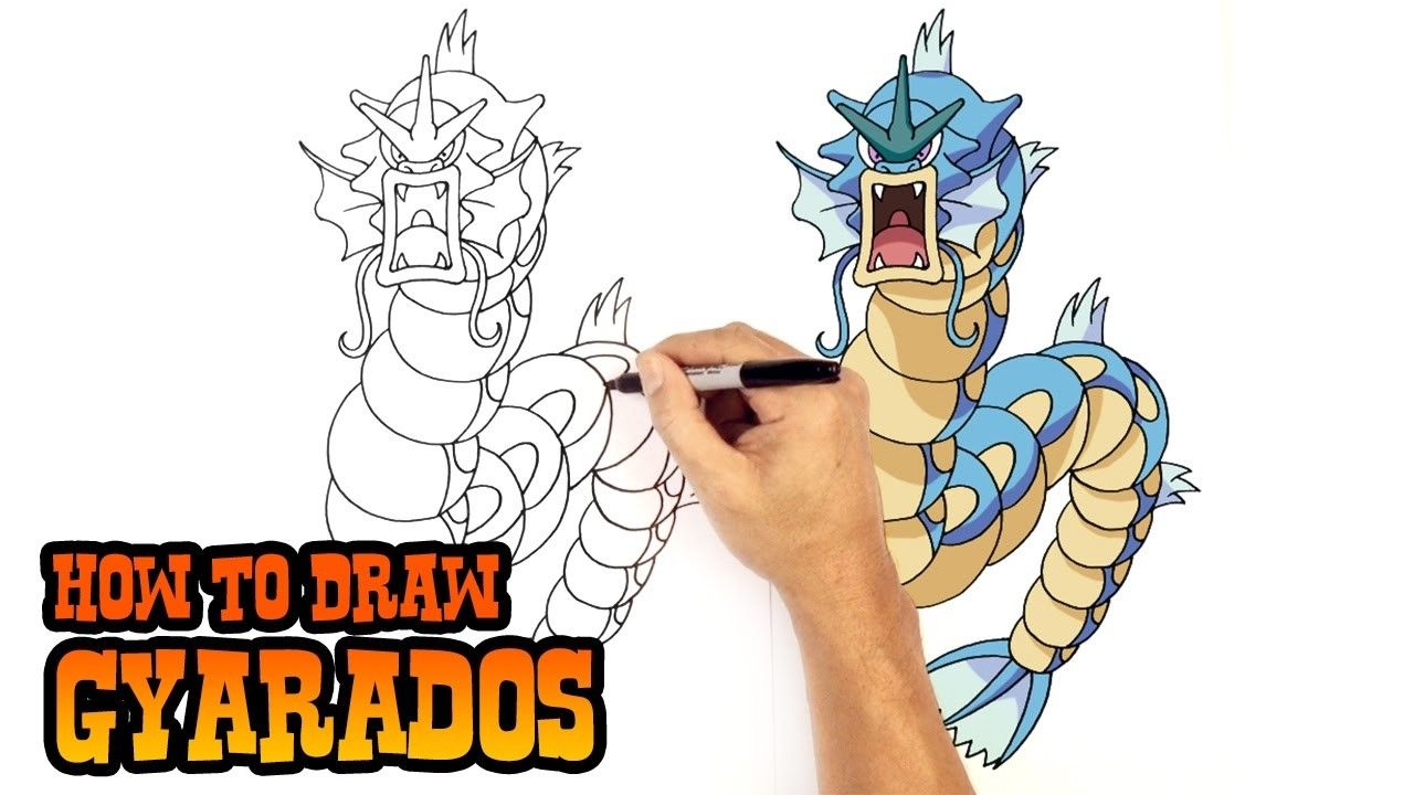 How To Draw Gyarados Drawings Pokemon Art Lessons For Kids