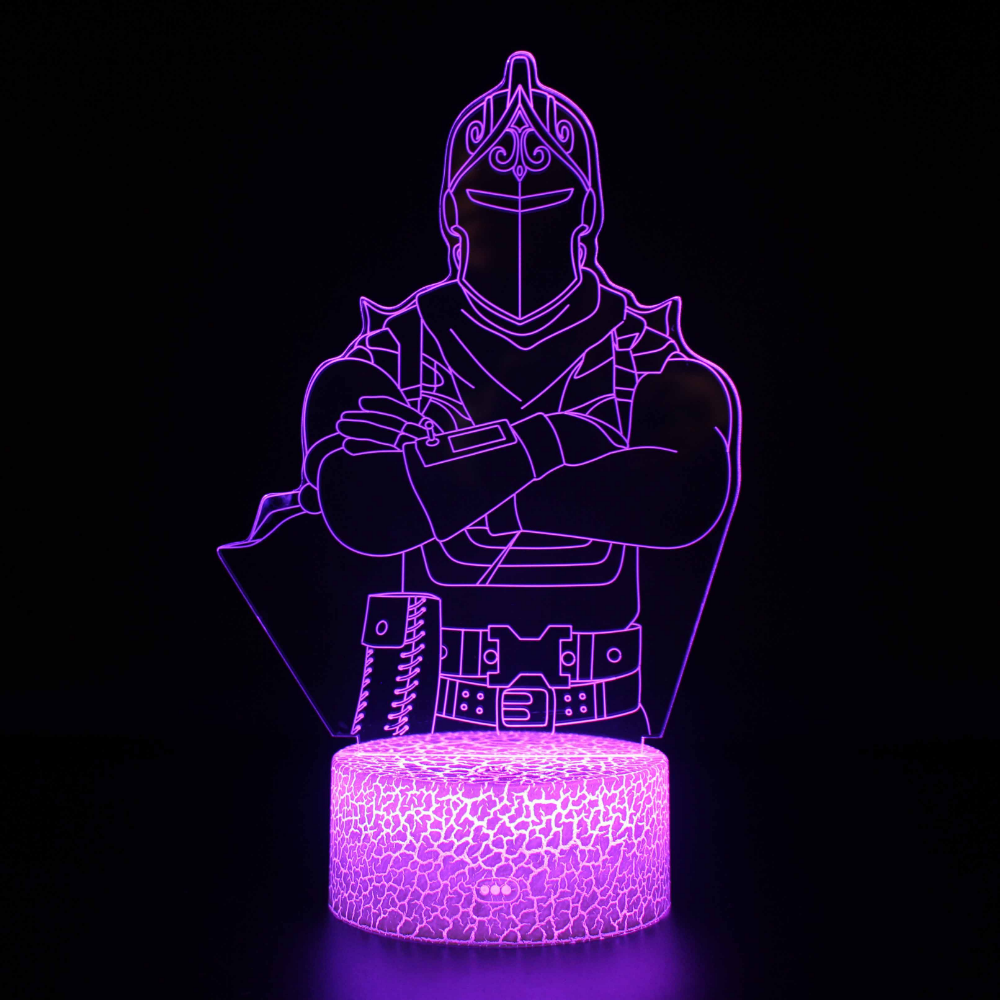 Fortnite Black Knight Skin 3d Illusion Lamp Night Light Kids 3d Illusions 3d Illusion Lamp