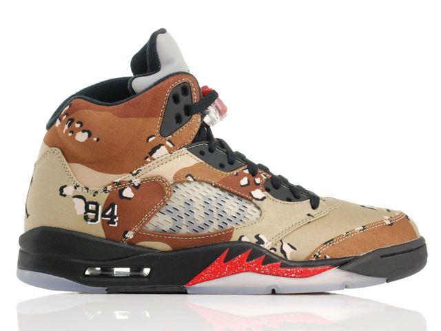online store f35b4 75b56 Nike x Supreme Air Jordan 5 V Retro Camo Desert Storm (824371-201) -  RMKstore