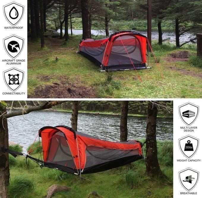 Check Out The Kickstarter For Crua Hybrid, A Tent Hammock Sleeping Bag  Inflatable Mattress Combo