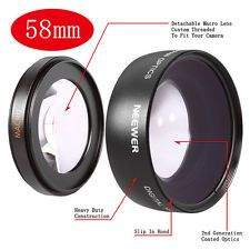 0.45x Super-Wide Angle Lens 58mm for Nikon D5200 D3200 D7000 D300 D200 D100 D3