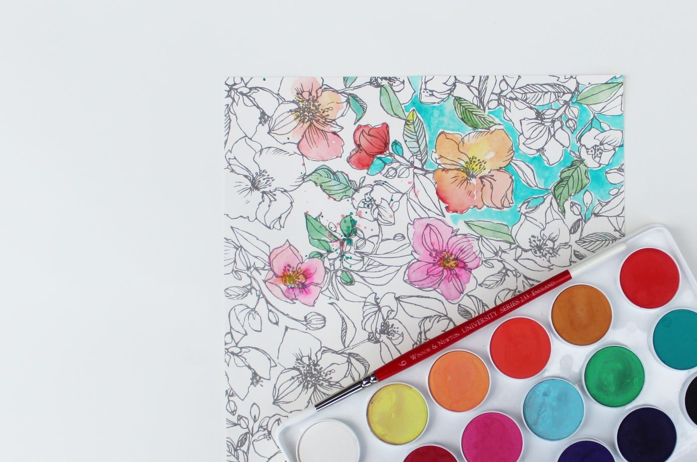 Take Your Coloring Adventure To The Next Level With Watercolor