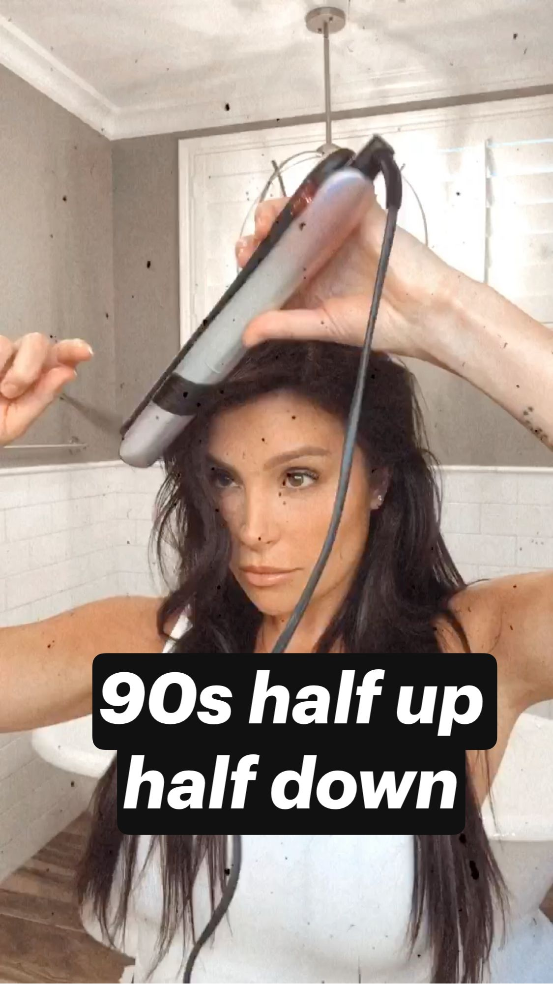 90s half up half down