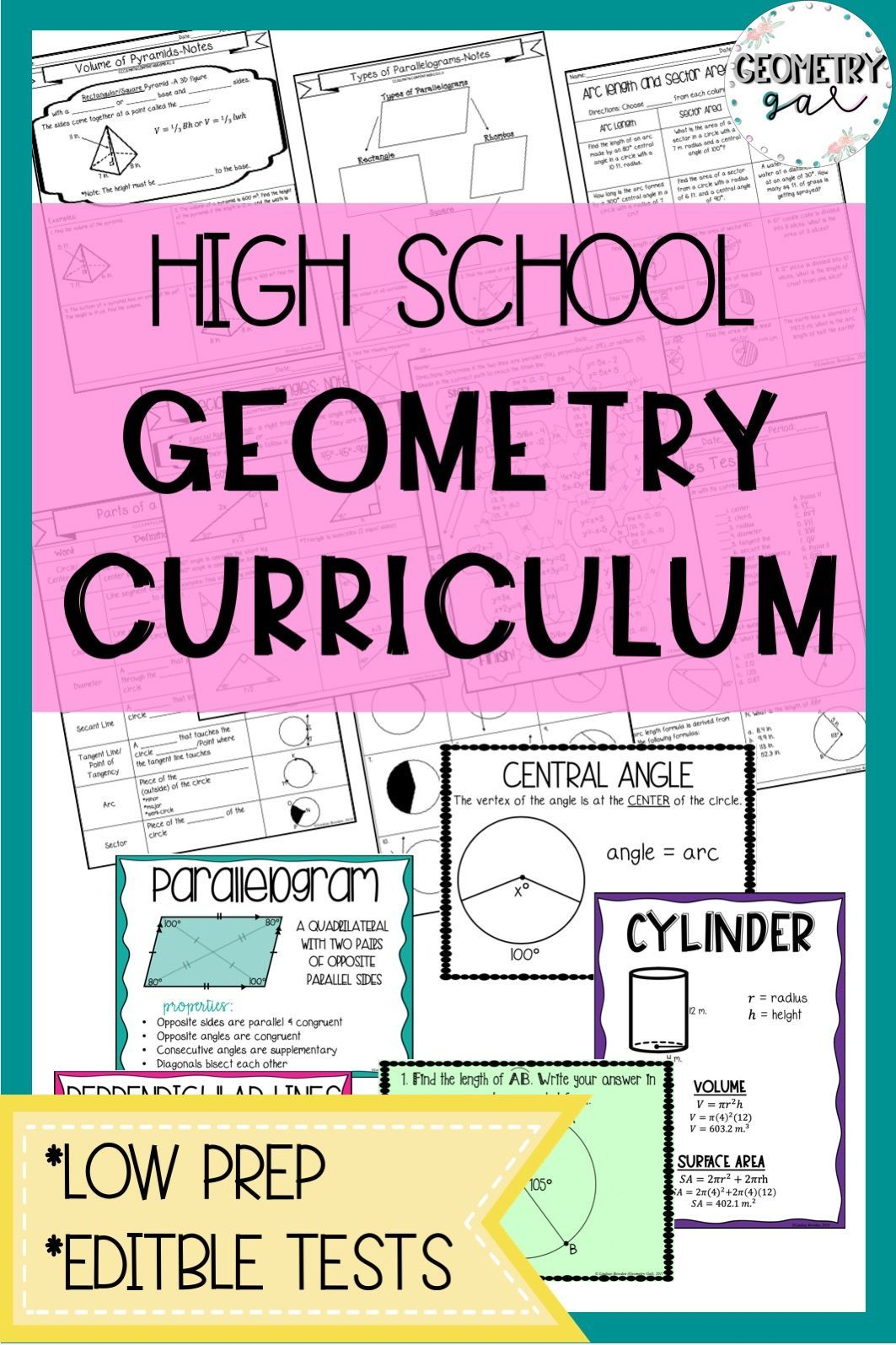 Geometry Curriculum | Secondary Math Resources - Grades 7-12