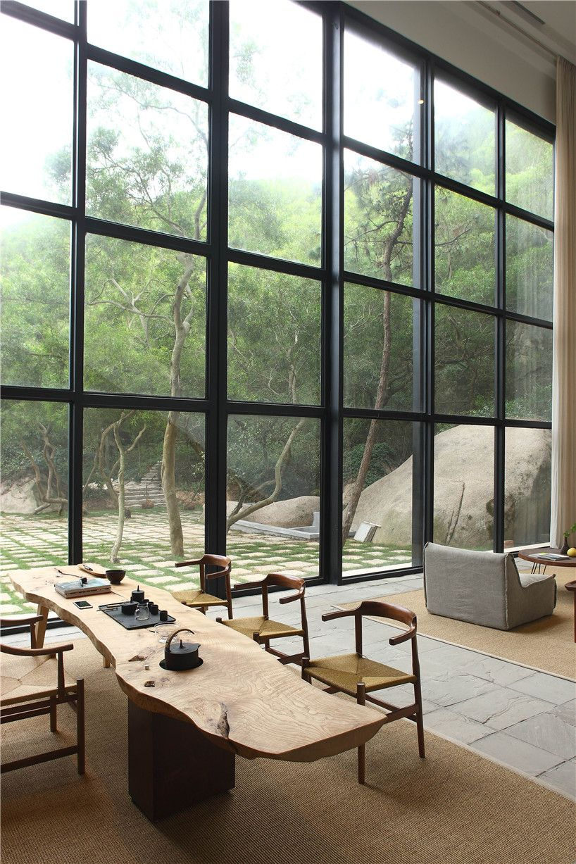 fmx interior s returning hut is a nature rich retreat in china rh pinterest com