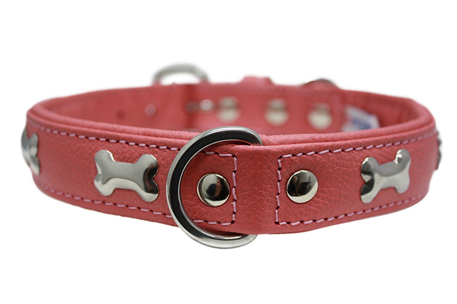 Leather Bones Dog Collar Rotterdam 22 X 1 Bubblegum Pink You Can Find Out More Details At The Link Of Th Bone Dog Collar Dog Collar Bubblegum Pink