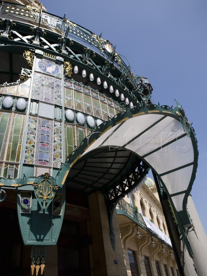 Art Nouveau Stained Glass In Entrance Porch Of Municipal House