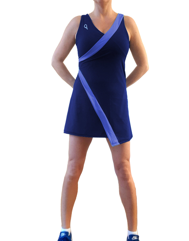 Vestito Da Tennis Blu Incrociato Asimmetrico Con Inserti Azzurri In 2020 Fashion Mini Dress Dresses