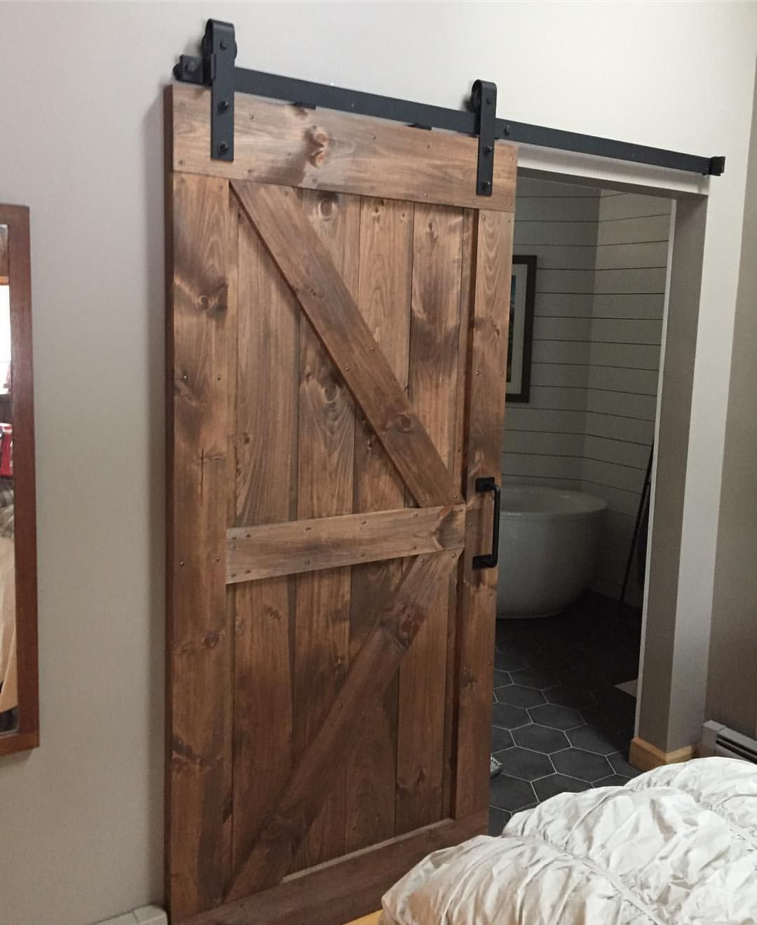 37 Likes 1 Comments Rusticroo Designs Rusticroodesigns On Instagram One Of Our Most Popular Combinatio Special Walnut Stain Diy Barn Door Stained Doors