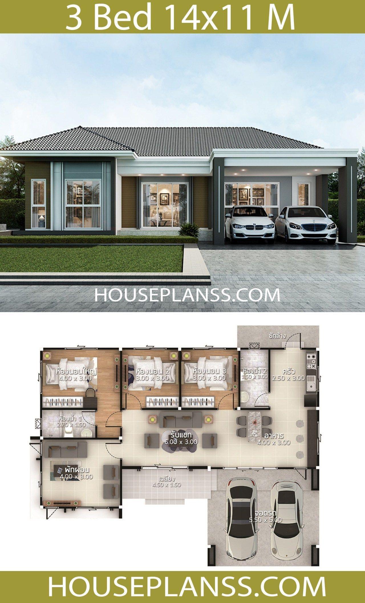 House Design Plans Idea 14x11 With 3 Bedrooms Home Ideas House Design Plans Idea 14 11 With 3 Bedrooms Kucuk Ev Planlari House Blueprints Mini Ev Planlari