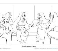 Christmas Coloring Page Prophets Foretold The Birth Of A King