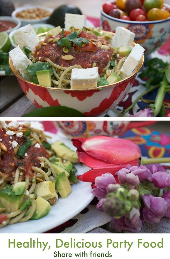 Mexican Pasta Dish, Cinco de Mayo party food.