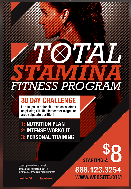 17 Best images about inspire Fitness – Gym Brochure Templates