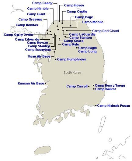 Us Military Bases In South Korea Us Military Bases Military