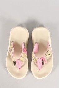 Bianca-S14 Tribal Print Thong Flatform Sandal #urbanog
