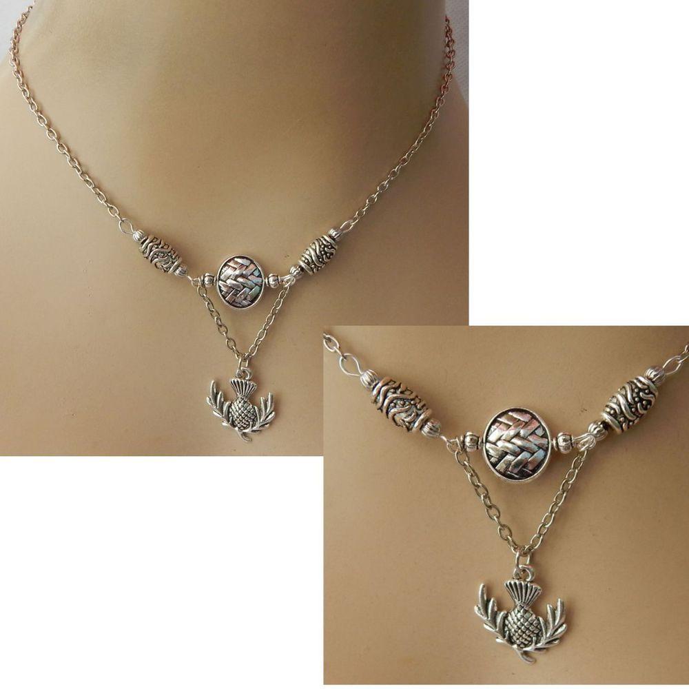 Thistle necklace celtic scottish pendant silver chain new jewelry thistle necklace celtic scottish pendant silver chain new jewelry handmade scots aloadofball Image collections