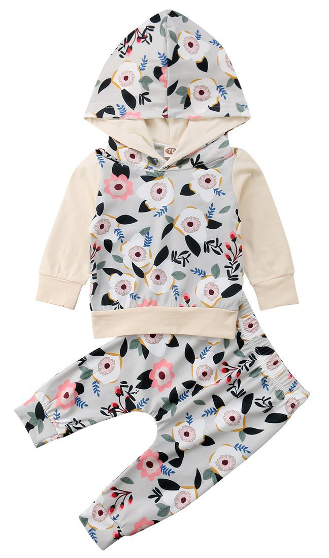 4808b8ec50cf9 Cream Floral Set | Trendy Sets | Girls boutique dresses, Kids ...