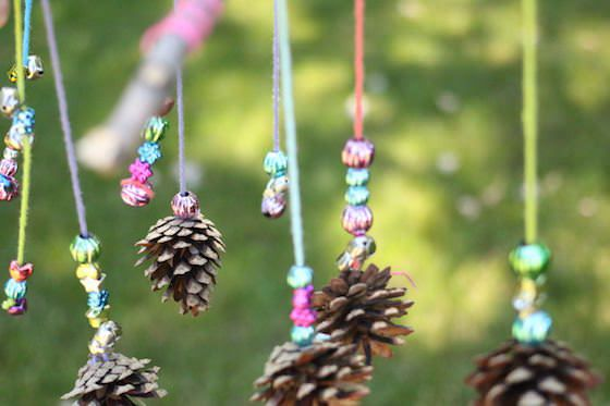 Beautiful Pinecone and Bead Mobile Craft for Kids | Mobile craft, Pinecone  crafts kids, Fall crafts for kids