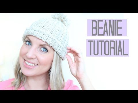 CROCHET  Beanie Hat tutorial  1bd3c1a965f