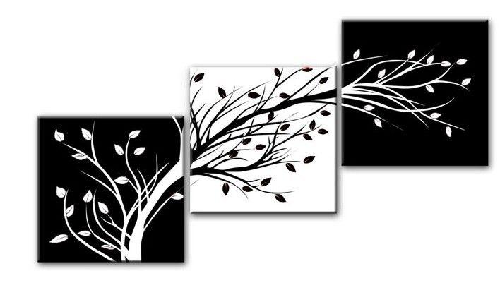 Cuadros abstractos en blanco y negro imagui - Cuadros modernos blanco y negro ...