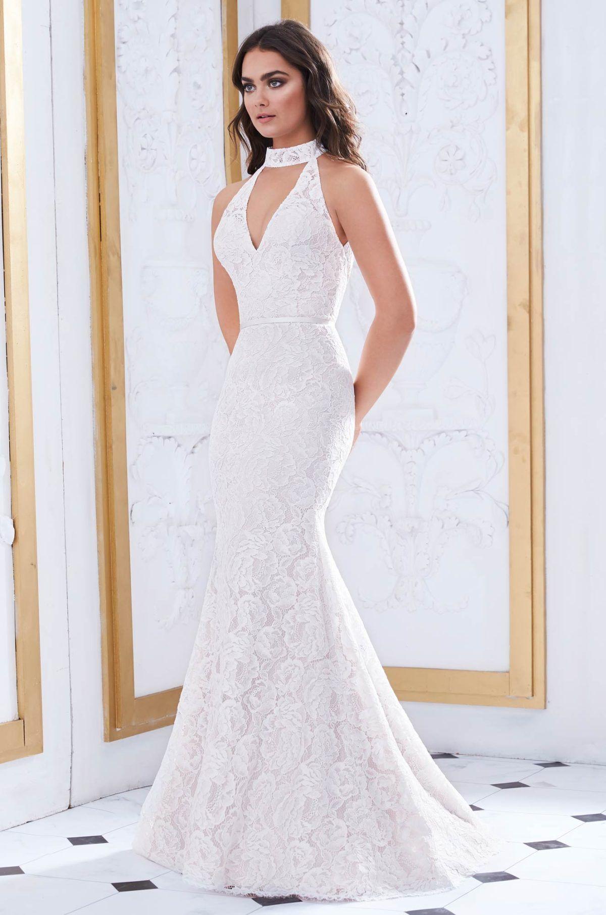 Collared Neckline Wedding Dress Style 4868 Paloma