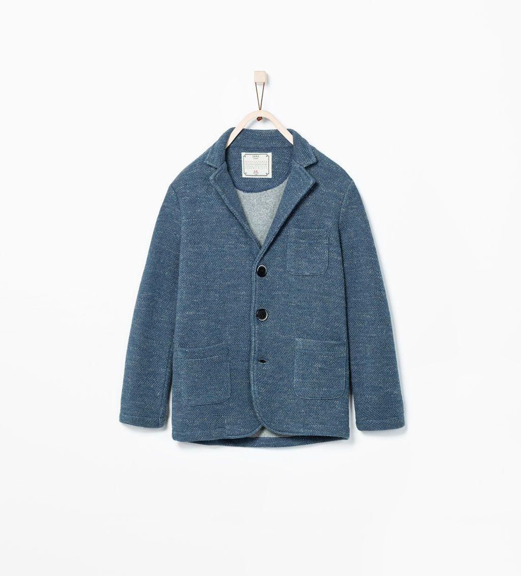 ZARA KIDS MARLED BLAZER WITH COLLAR | Boys jacket