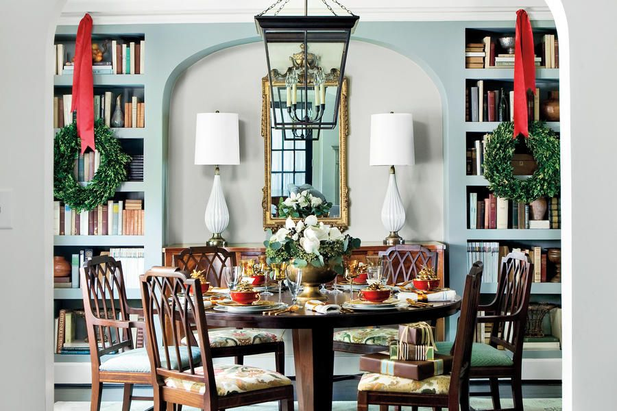 Our Best-Ever Holiday Decorating Ideas Drywall, Shelves and Woods - southern living christmas decorations