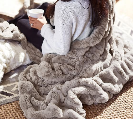 Faux Fur Ruched Throws My Style Pinterest Fur Throw Faux Fur
