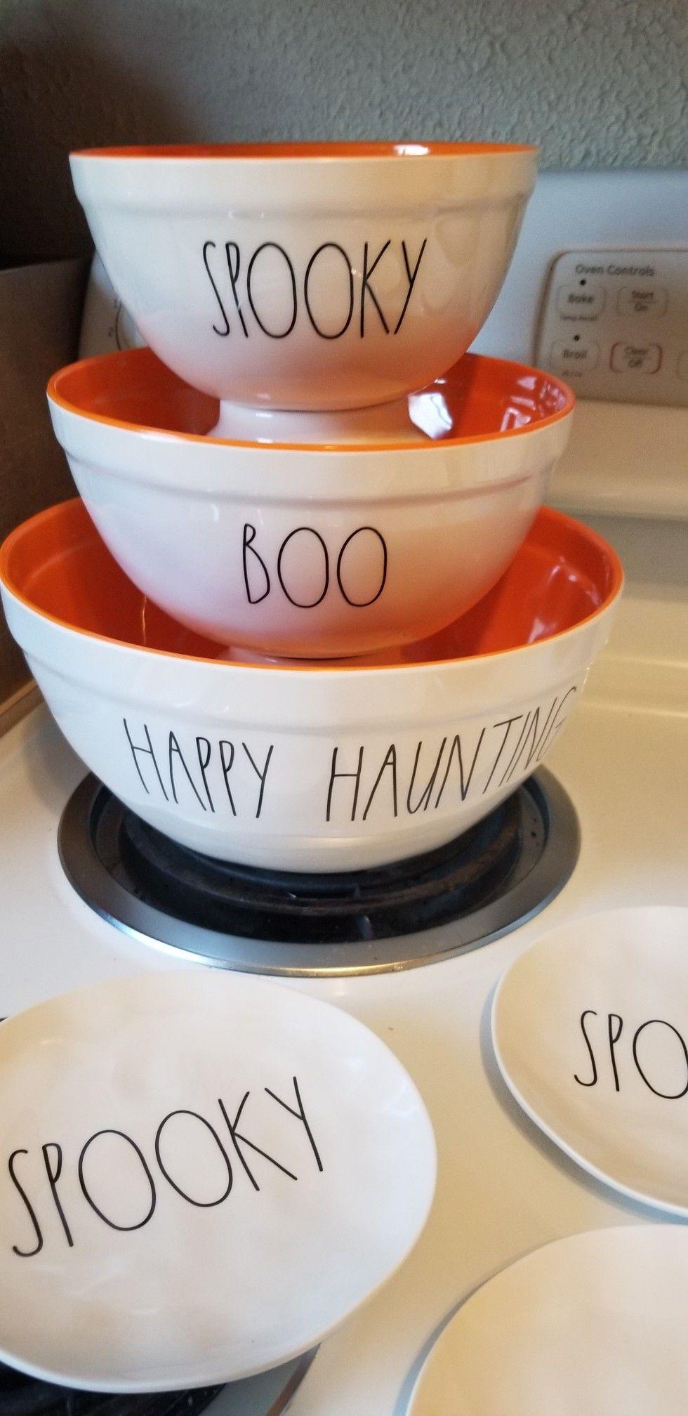 Rae Dunn Christmas Bowls.Rae Dunn Halloween Melamine Mixing Bowls Rae Dunn
