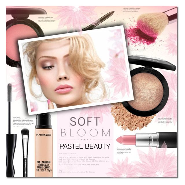 """""""Soft Bloom"""" by justlovedesign ❤ liked on Polyvore featuring beauty, MAC Cosmetics, Illamasqua and pastelmakeup"""