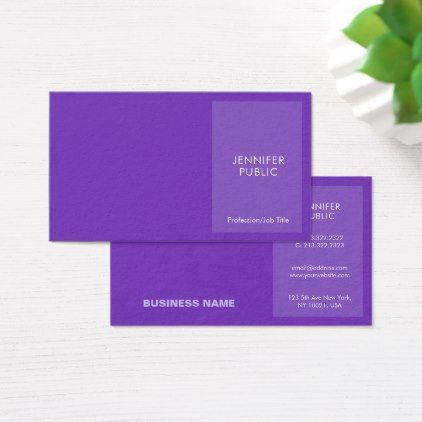Elegant Violet Modern Professional Creative Chic Business Card   Architect  Gifts Architects Business Diy Unique Create